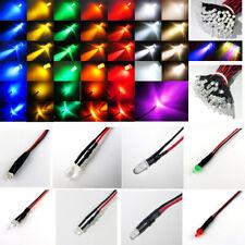 LED verkabelt 12V 1,8mm 2mm 3mm 5mm klar diffus fertig mit 20cm Kabel