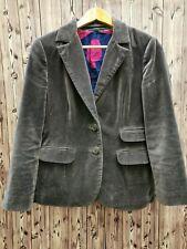 Boden ladies velvet blazer two buttons cotton blend size 10 flap pockets