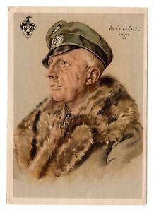 W. Willrich Karte , Major Hans von Rochow , Radfahrabteilung.