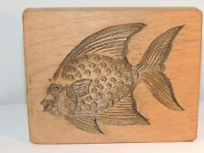 Wooden Fish Wall Plaque hole for hanging on back over 5 inches (8842)