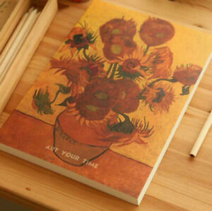 16K/B5 Van Gogh Works Cover Thicken Art Sketch Book Blank Drawing Practice Book