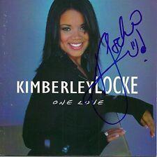 Kimberley Locke signed One Love cd