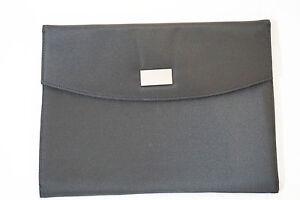 Hochwertige Schreibmappe, Aktenmappe A4, aus Mikrofaser in schwarz