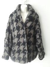 OSKA Ladies Wool Mohair Batwing Shawl Houndstooth Alia Jacket Size 1 - (10/12)