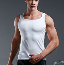 Quality Men's 100% Cotton A-Shirt Wife Beater Ribbed Tank Top Undershirt Vest