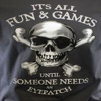 DISNEY Men's T-Shirt Pirates of the Caribbean Disneyland Fun  Games Size: SMALL