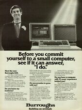 1982 Burroughs B20 Computer Vintage Photo Print Ad