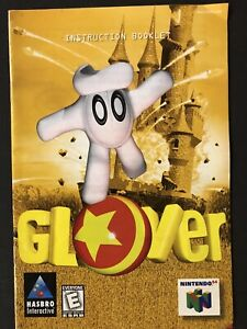 Glover (Nintendo 64, 1998) -Authentic Manual ONLY - No Game Classic N64 Booklet