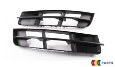 NEW GENUINE AUDI Q7 09-15 N/S LEFT O/S RIGHT FRONT BUMPER LOWER GRILL BLACK SET