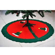 Santa Claus Snowman Tree Skirt Decoration For Christmas Holiday Xmas Popular