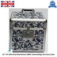 "NEO Aluminum GREY Camouflage Storage DJ Carry Case for 100 Vinyl LP 12"" Records"