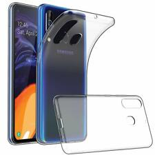 For Samsung Galaxy A60 Case Clear Silicone Slim Gel Cover & Stylus Pen