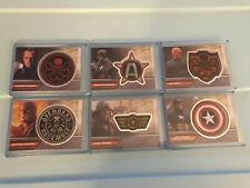 Captain America Avengers Assemble Patch Card Set Red Skull Marvel I1-6