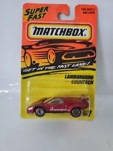 1996 MATCHBOX SUPERFAST #67 Dark Red LAMBORGHINI COUNTACH LP 5000S - Thailand