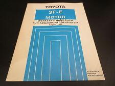 Werkstatthandbuch Toyota Land Cruiser J6 Motor 3F-E Abgaskontrollsystem ab 1988