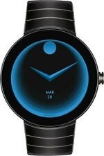 Sealed Movado Men's Connect Black Stainless Steel IP Smart Watch 3660015 46.5mm