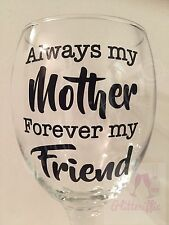 X2 Always My Mother Forever My Friend Vinyl Decal Sticker Mother's Day Gift