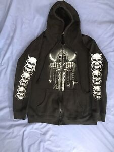 Wild Skeleton Hoodie Size M Gothic