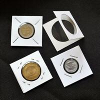 Wiederverwendbar Münzhalter Schutz Behälter Organizer 100pcs Papier Display