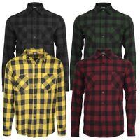 Urban Classics Flannel Checked Shirt Lumberjack Black Checkered S-5XL