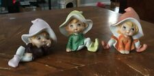 Vintage Homco Home Interiors Set of 3 Elves Fairies Pixies 5213 Shelf Sitters