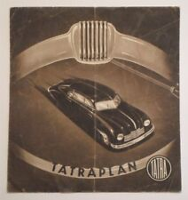 TATRA TATRAPLAN orig c1949 Sales Brochure with English text