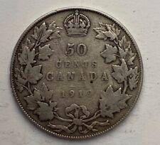 CANADA 1919 50 CENTS HALF DOLLAR GEORGE V CANADIAN .800 SILVER D14