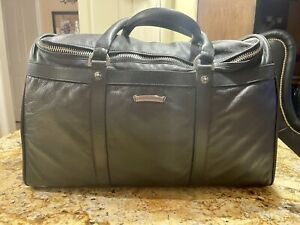 Authentic Chrome Hearts Leather Weekender Duffle Bag