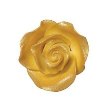 Culpitt LUSTRE GOLD 38mm M Edible Sugar Soft Roses Wedding Cup Cake Decoration