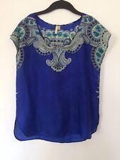 Top blouse ethnique en soie IRO  -  T. 1 / 36 / S