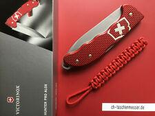 Victorinox Hunter Pro Alox rot schweizer Messer 0.9415.20 mit Paracord OVP