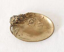 Vide Poche Coupelle Art Nouveau Bronze Signé BERTIN Décor Marguerite Collection