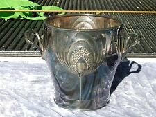 LARGE AUSTRIAN SILVERPLATE  ORVIT / WMF SECESSIONIST CHAMPAGNE BUCKET