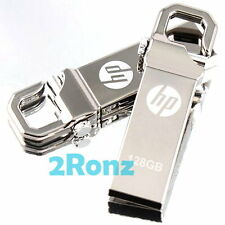 HP v250w 128GB 128G USB Flash Drive Disk Metal Stick Pin Lock Carabineer Metal