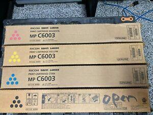NEW Genuine OEM Ricoh Lanier Savin MP C6003 Toner Set