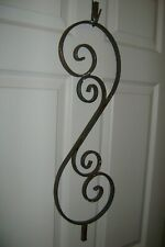 Selling (2) Vintage Steel Architectural Salvage Ornate Rail Piece Garden Scroll