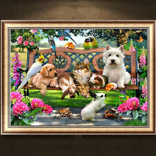 DIY 5D Diamond Embroidery Dog Cat Animal Diamond Painting Cross Stitch Kits