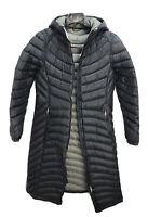 Women's LL Bean Ultralight 850 Down Hooded Jacket Coat Long Size Small ( As Is)