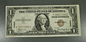 1935-A $1 HAWAII Brown Seal Silver Certificate P36021900C