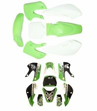 Green Plastics Fairing +Style  Stickers Set Kawasaki KLX110 KX 65 Suzuki DRZ110