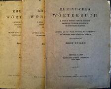 3 x Rheinisches Wörterbuch 1. Band 1., 3. und 4./ 5. Lieferung 1923 Josef Müller