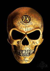 The Omega Skull, Steampunk Gothic, Alchemy Empire, Tattoo, Small Metal Tin Sign