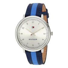 Tommy Hilfiger Reloj Unisex Azul | Ultra Delgado 1781767 la OTAN Correa Cuarzo RRP £ 120