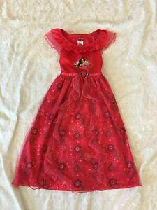 Disney Princess Girls 5 ELENA OF AVALOR Red Dress Pajama Nightgown Costume Play