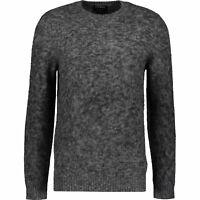FARHI BY NICOLE FARHI Men's Cotton/Wool Blend Crew Neck Jumper, Charcoal Grey XL