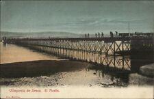 Villagarcia de Arosa Arousa El Muelle c1905 Postcard