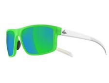 Adidas Whipstart A423 00 6056 Frames Matt White Green Authentic Sunglasses