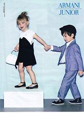 PUBLICITE ADVERTISING  2010   ARMANI JUNIOR haute couture enfants