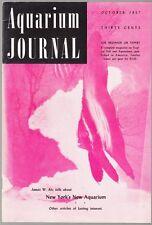 [34634] AQUARIUM JOURNAL MAGAZINE OCTOBER 1957 VOL. 28, No. 10