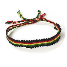"Rasta Roots Wrist Friendship Bracelet Negril Hawaii Surfer Reggae Jamaica 11"""